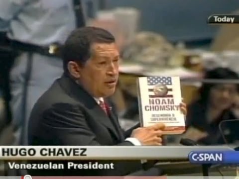 Chavez Cites Chomsky at UN General Assembly