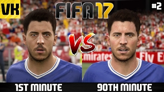 FIFA 17 Player Faces - 1st Minute vs 90th Minute Player Faces Comparison - What changes? #2