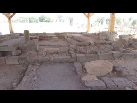 Jesus Trail (Nazareth to Capernaum)- Magdala - the ancient synagogue excavations.