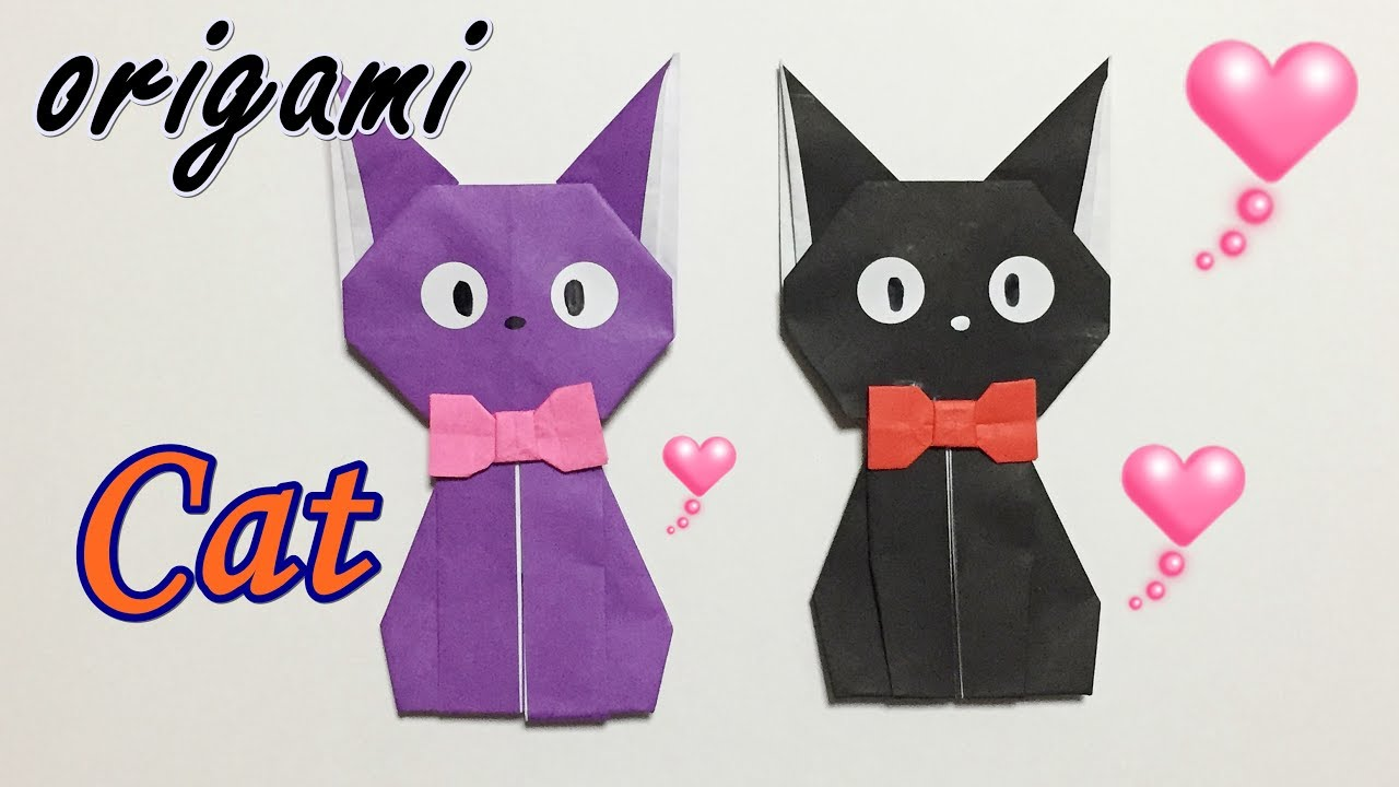 How to make Origami Cat   Easy Origami Cat Tutorial (2018) - YouTube   720x1280