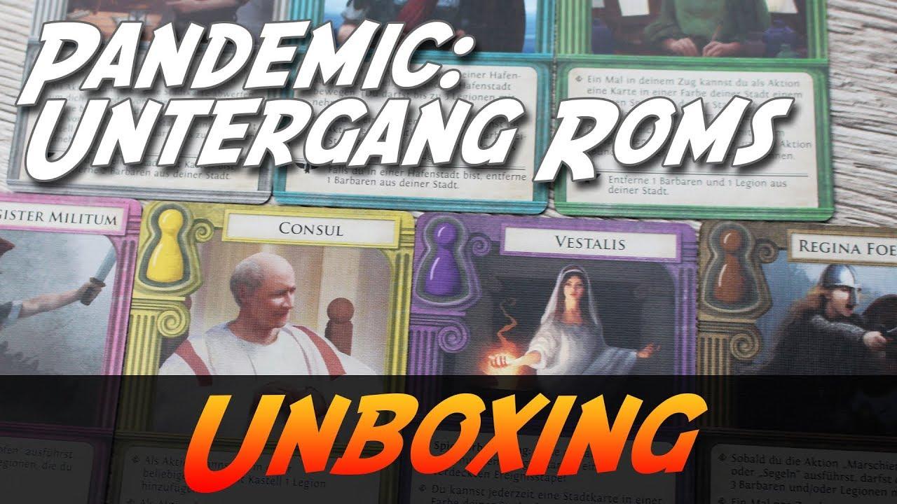Karte Des Untergangs.Pandemic Untergang Roms Brettspiel Unboxing Abenteuer Brettspiele