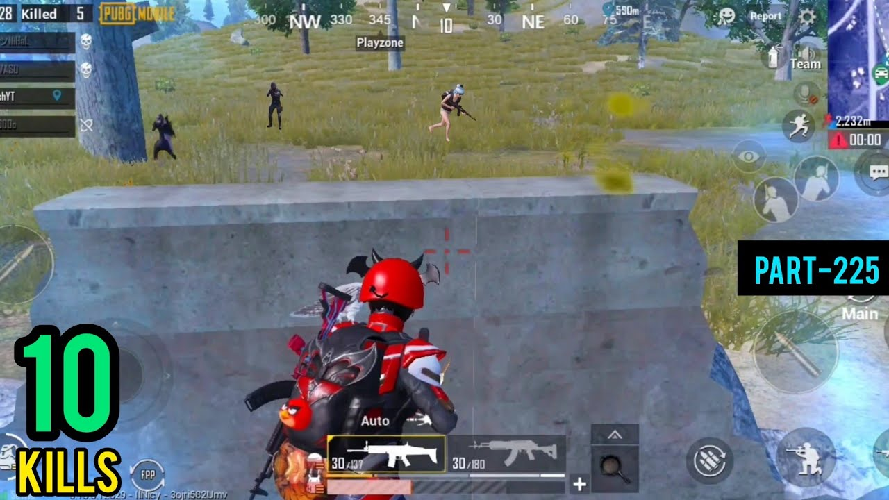 Can I Survive Without Heal | Squad Erangel Gameplay | Pubg Mobile - AkhiLesh YT