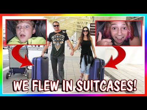 WE FLEW TO CA IN SUITCASES! | SKIT | We Are The Davises