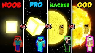 Minecraft NOOB vs. PRO vs. HACKER vs. GOD: SUN BASE in Minecraft! (Animation)