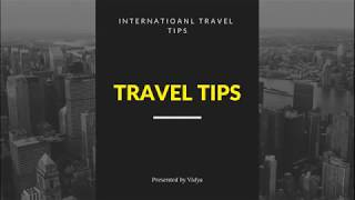 Travel Tips/travel agency/airlines/hotels/destiantion