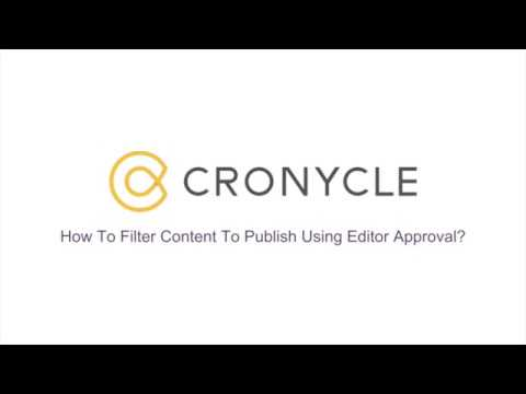 Filter Content To Publish Using Editor Approval