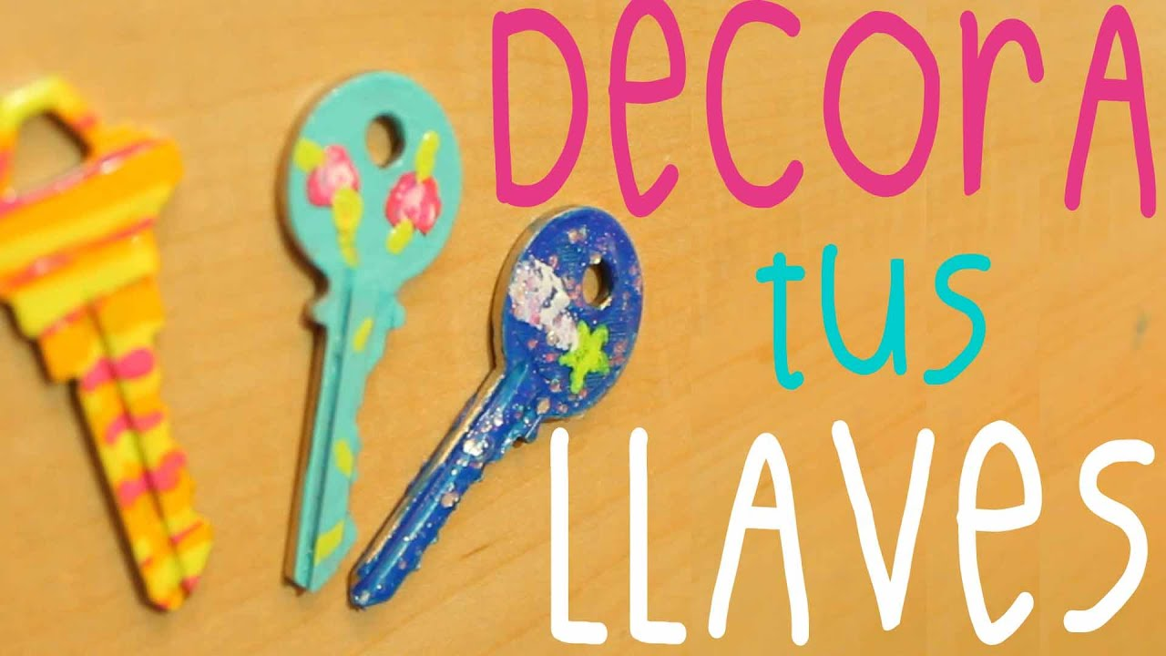Diy decora tus llaves con esmalte de u as tutorial for Decoracion de unas con esmalte