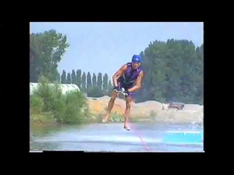 Bart Sileghem - World Record Barefoot Waterski Jumping 1995