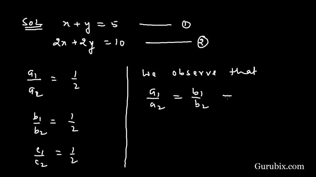 Ex 32 Q4i Which Of The Following Pairs Of Linear Consistent