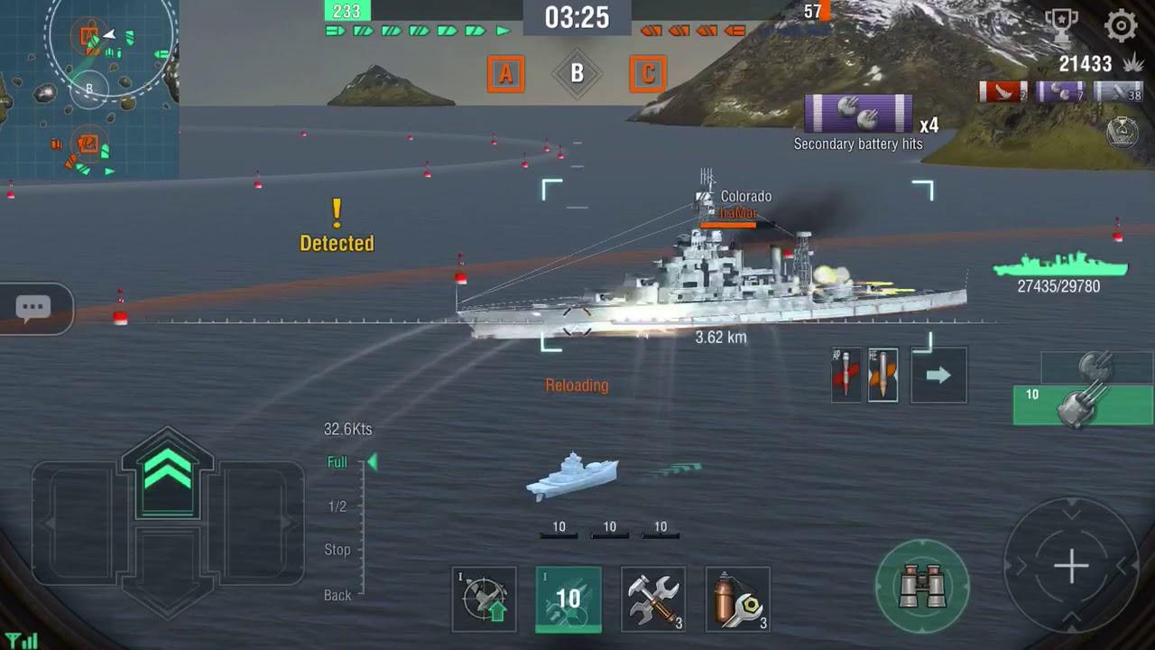 World of Warships Blitz - Tier VII Cruiser - New Orleans - YouTube
