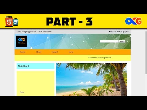 Complete Web Page | Part 3 LAST | HTML And CSS | AKG Brothers