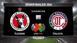 tijuana vs toluca goles