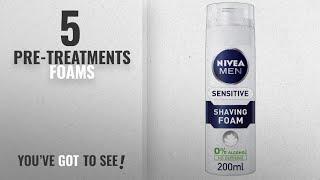 Top 10 Pre-Treatments Foams [2018]: Nivea Men Sensitive Shaving Foam, 200 ml - Pack of 6