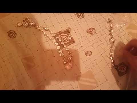 REVIEW : Elegant Water Drop Shape Jewelry Set(Necklace+Bracelet+Earrings+Ring)For Women  -  GOLDEN