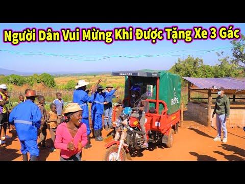 Quanglinhvlogs   Cảm Xúc Vui Mừng Của Dân Bản Địa Khi Lần Đầu Tiên Trong Đời Nhận Món Quà To Như vậy