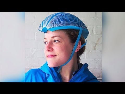 This Safe Foldable Bike Helmet Is Made Out Of Paper