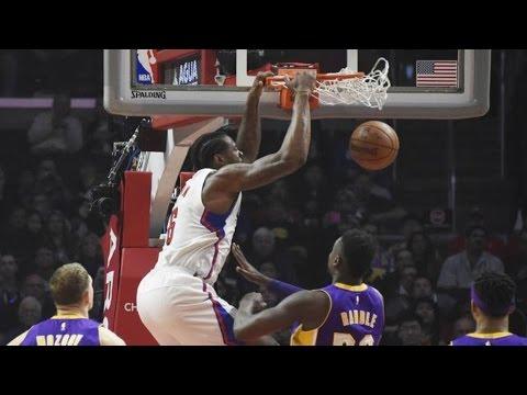 DeAndre Jordan Dunk Fest Dominates Lakers! 24 Pts 21 Rebs Clippers vs Lakers
