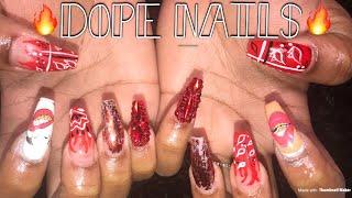 Red Bandana Nails | Acrylic Nails Tutorial