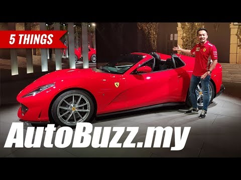 2019 Ferrari 812 GTS V12 Spider, 5 Things - AutoBuzz.my