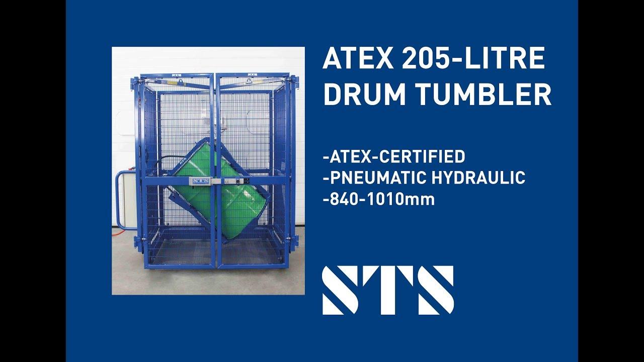 ATEX 205 Litre Drum Tumbler (Model: DMP01-Ex) Pneumatic Air Powered