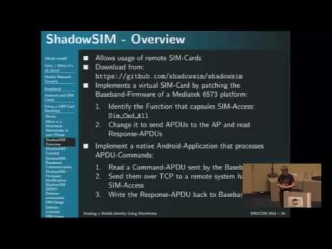 BruCON 0x06 - Stealing a mobile using wormholes - Markus Ver