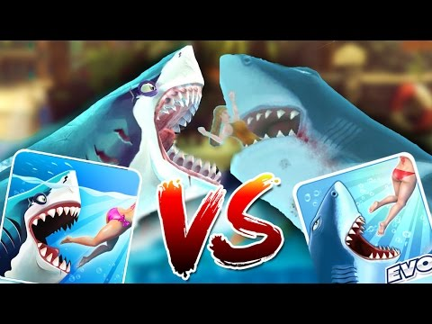 HUNGRY SHARK WORLD vs HUNGRY SHARK EVO - New Megalodon VS Old Megalodon Gameplay