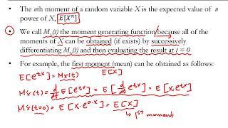 [핵심 확률/통계] Moment Generating F…