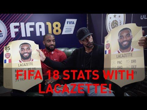 Discussing Alexandre Lacazette's FIFA 18 stats