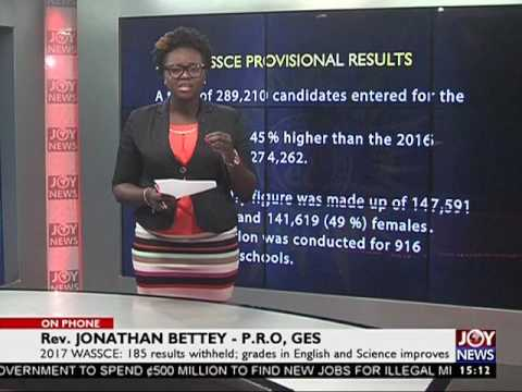2017 WASSCE Results - The Pulse on Joy News (20-7-17)