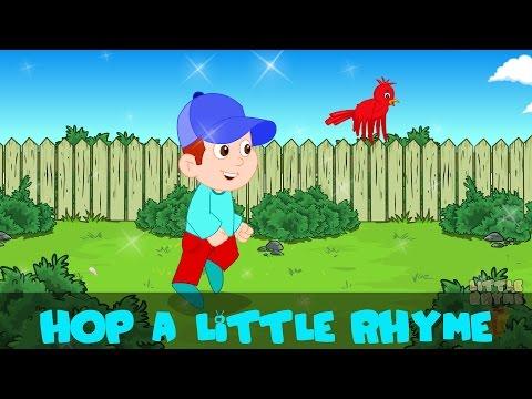 hop a little jump a little one two three | Kids Nursery Rhyme | By Little Rhyme Box
