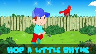 hop a little jump a little one two three | Kids Nursery Rhyme | By Little Rhyme Box
