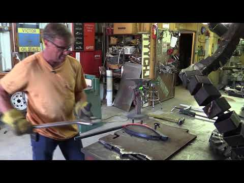 How to Bend Thick Metal Using a Propane Forge - Kevin Caron