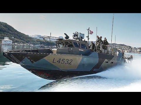US Marines & Norwegian Kystjegerkommandoen Conduct CB90 Fast Assault Craft Training