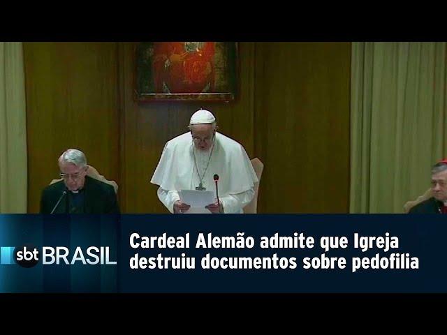 Cardeal Alemão admite que Vaticano destruiu documentos sobre pedofilia   SBT Brasil (23/02/19)