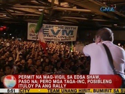 UB: Permit na mag-vigil sa EDSA Shaw, paso na; pero mga taga-INC, posibleng ituloy pa ang rally