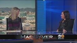 """KCAL9 News: Meredith Eaton from CBS's """"MacGyver"""""""