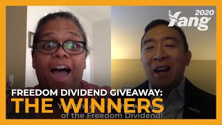 Who Won Andrew Yang's Freedom Dividend Giveaway?