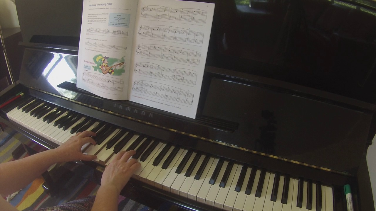 Greensleeves | Alfred's Basic Piano Library lesson book level 3