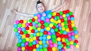 Ismet and Fatima Pretend Play with Colorful Balls