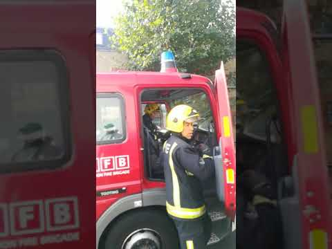 Watch firefighters dealing with fire in tooting south London