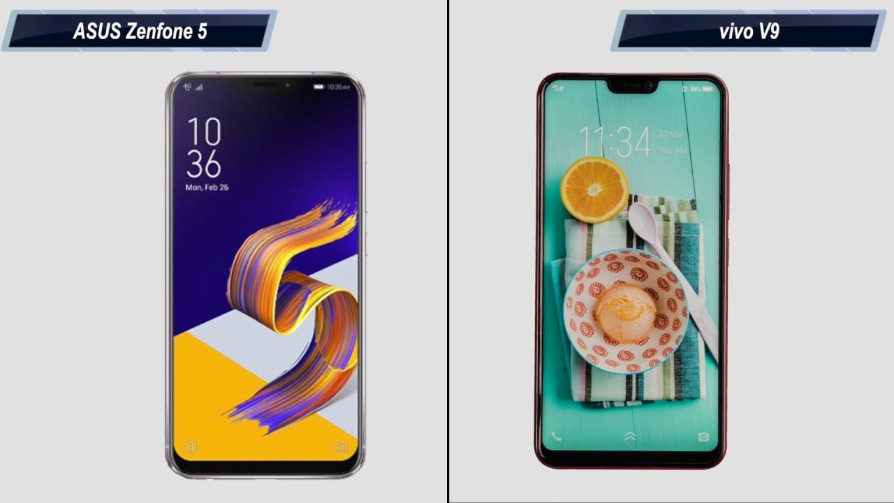 Vivo V9 Vs Asus Zenfone 5 Comparison Overview Hindi Case