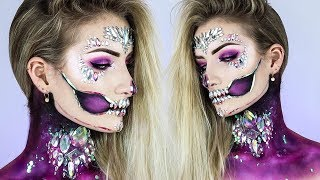 Download Holographic Diamond Skull HALLOWEEN 2017 Makeup Tutorial ☠️💎 | Simple Symphony ♡ Mp3 and Videos