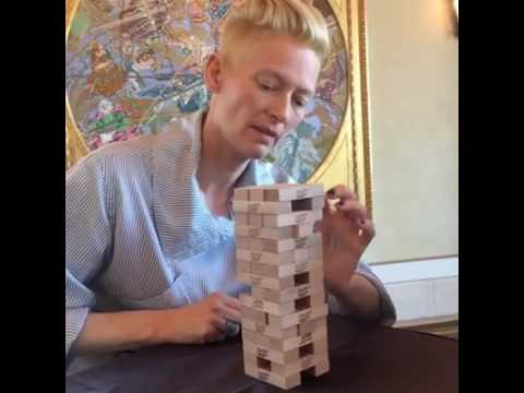 Benedict Cumberbatch & Tilda Swinton || Jenga & Interview