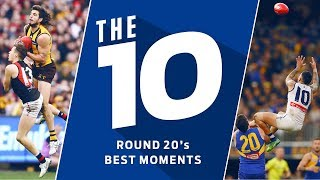 The 10: Best moments from Round 20 | 2018 | AFL