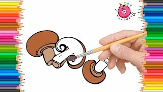 How to Draw Mushroom | Coloring Pages for Kids - Kids Channel