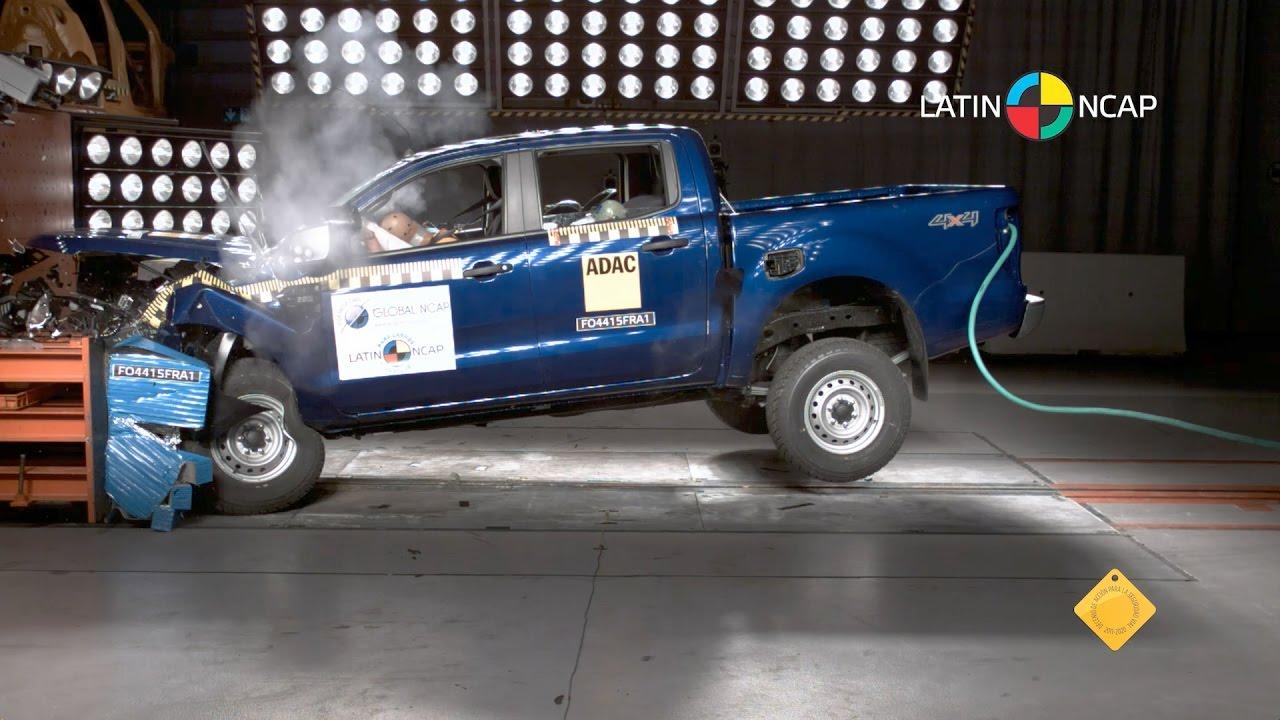 Ford Ranger Crash Test Latin Ncap Youtube