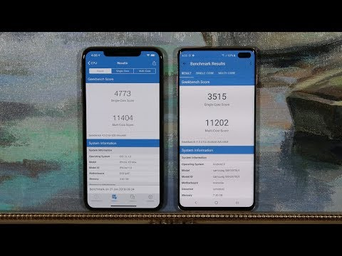 Samsung Galaxy S10 Plus Vs IPhone Xs Max - Benchmark Speed Test