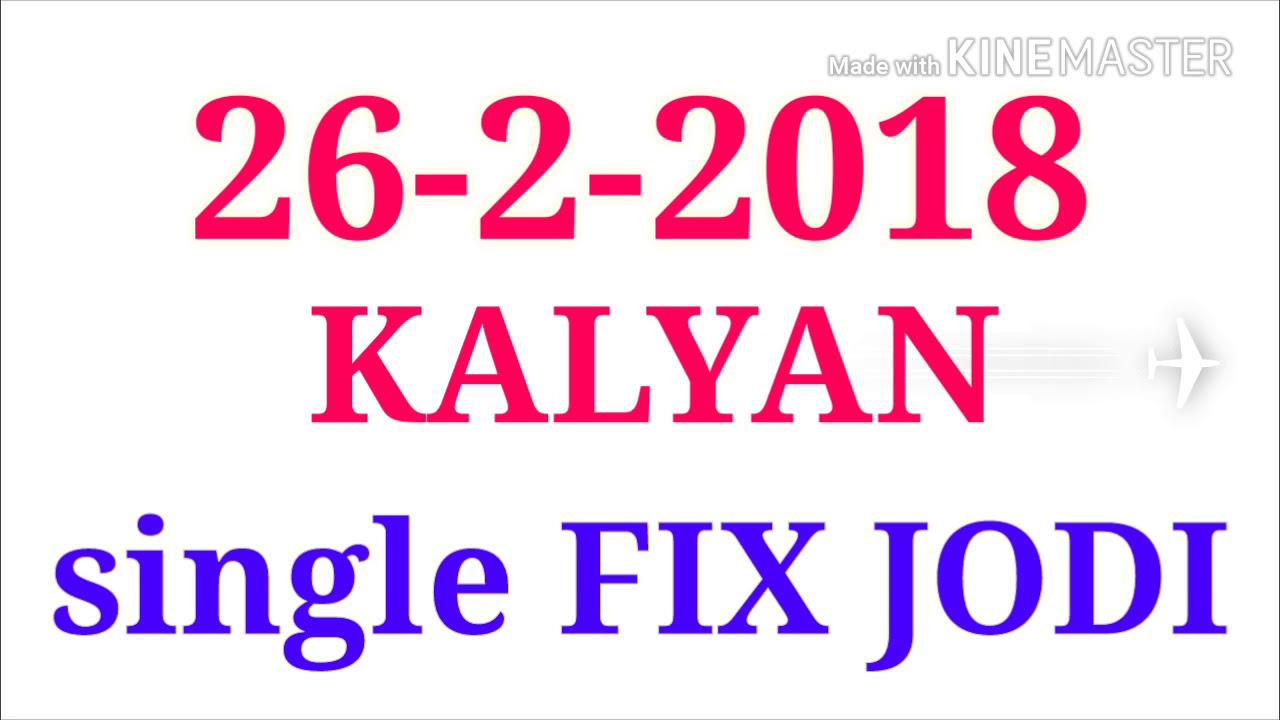 26-2-2018-KALYAN OPEN TO CLOSE FIX FIX