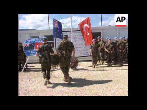 Bosnia - Kiwis & Turks Commemorate Anzac Day