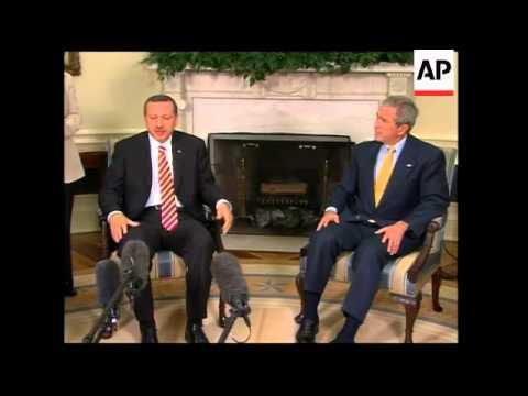 Bush meets Turkish PM Erdogan
